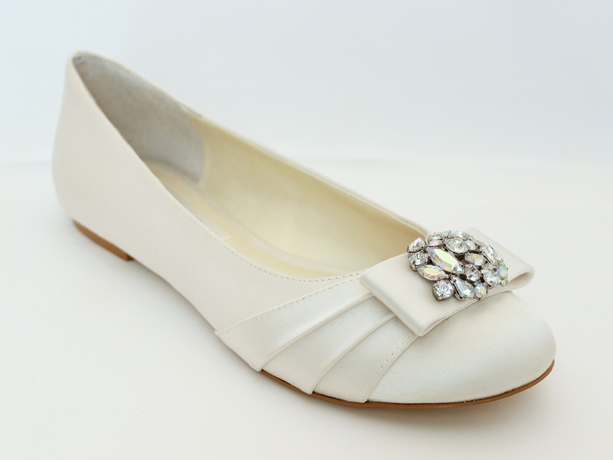 Wedding Wedding Ballet Flats watch more like wedding ballet flats for bride light ivory satin flats