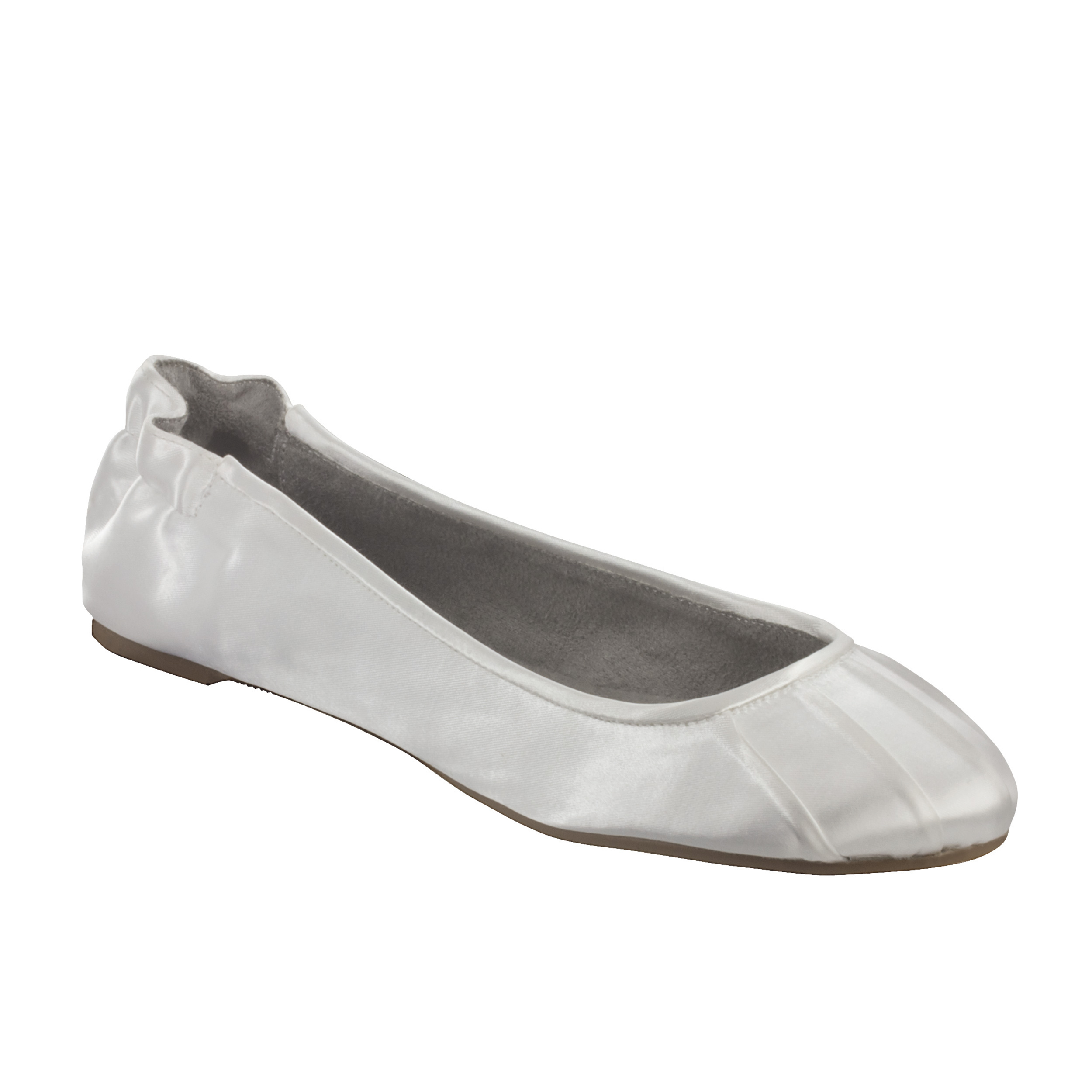 Satin Bridal Ballet Slippers  for weddings