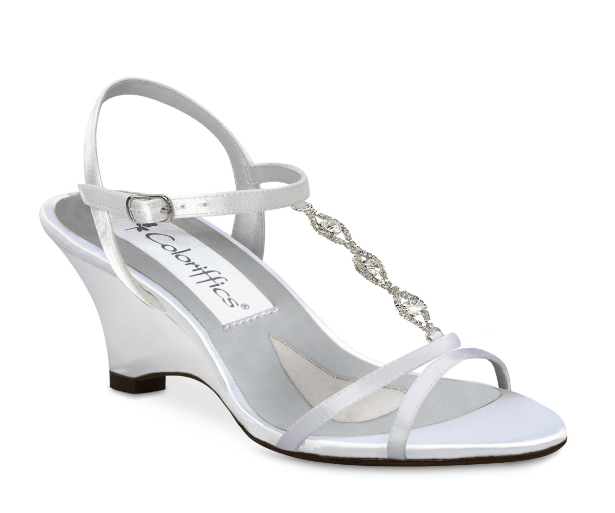 Wedding Tennies And Formal Shoes Dyeable Strappy Platform Sandals