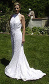 t Ivory Mermaid style beaded high neck dress.  $2500 Original Price