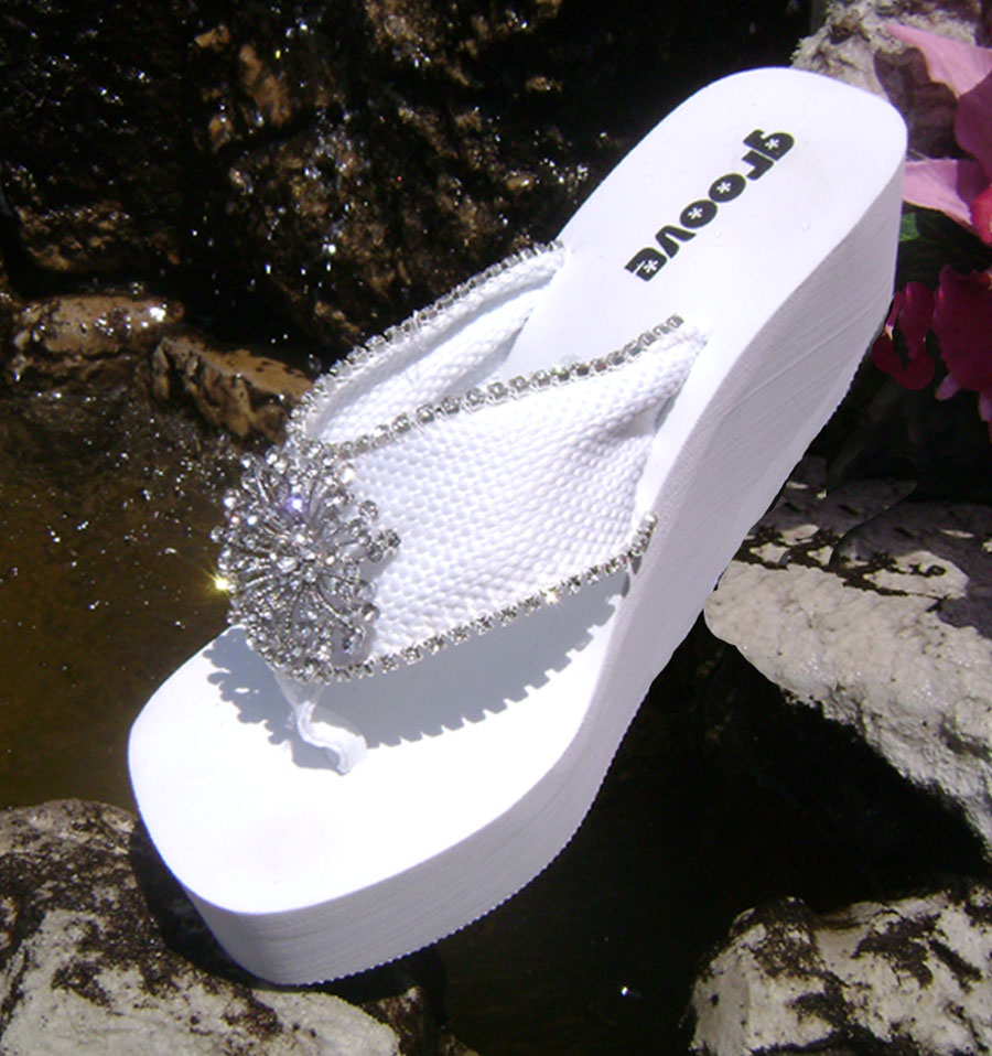 Formal Bridal Flip Flops By Wedding Tennies Formal Shoes