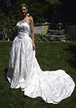 Used Wedding Dress with embroidery and sequins.  Was $4000