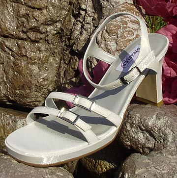 Light Ivory Closeout Bridal Sandals for Weddings