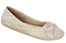 Ivory Lacy Bridal Ballet Slippers  for weddings