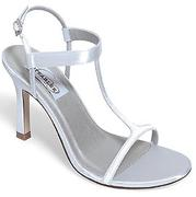 Closeout Satin Dyeable Bridal Sandal for weddings