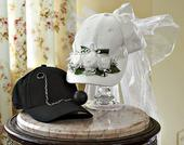 Fun wedding hats for the bride and groom