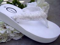 White Bridal Flip Flops with Lace trim for Weddingstytn.jpg