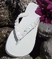 Light Ivory Bridal Flip Flops  for weddings
