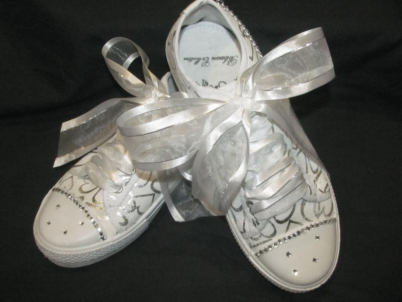 Silver Hearts Comfortable Wedding Shoes