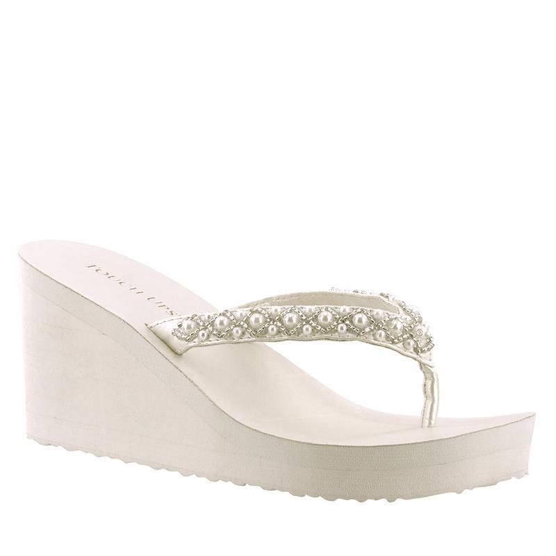 83ff25bd92f6 Bridal Flip Flops -- Comfortable Wedding Shoes