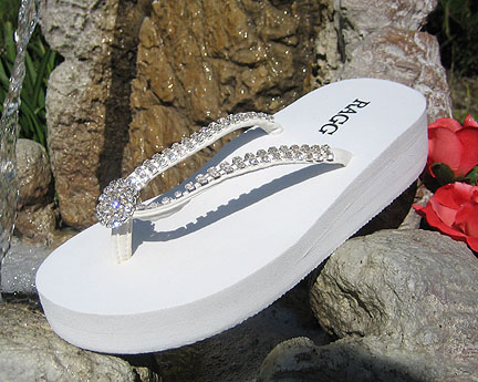 7d6bbef8d Bridal Flip Flops -- Comfortable Wedding Shoes